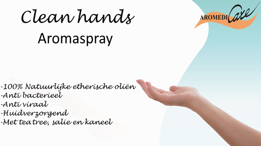 Nieuw! Aromedicare Clean Hands Aromaspray strong
